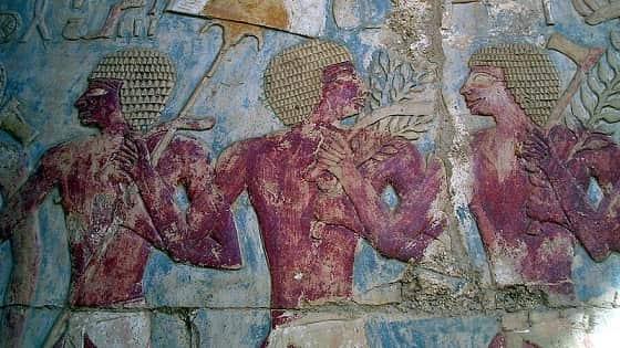 Painting inside Hatshepsut's temple.