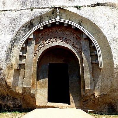 Lomas Rishi cave. Example of Maurya architecture, Bihar, India. 3rd. century BC.