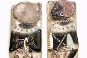Nubians in Egyptian art (worked in glass).