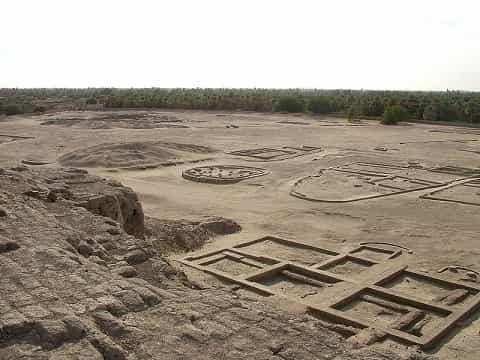 Ruins of Kerma, capital of the First Kushite Kingdom.